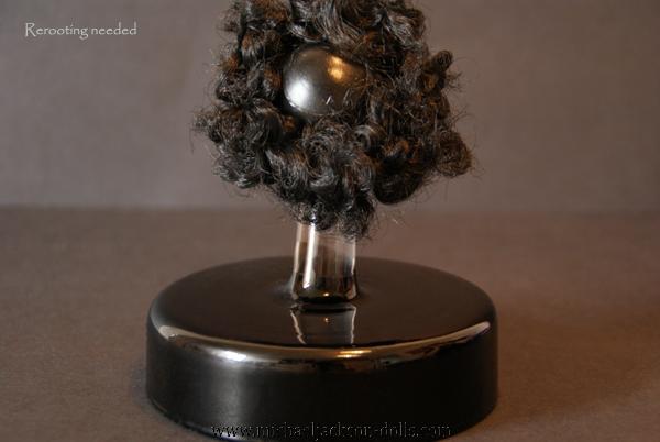 11 Michael Jackson head curled hair backside