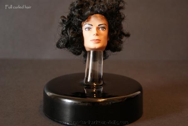 13 Michael Jackson head full curls