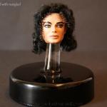 14 Michael Jackson head curled hair full painting