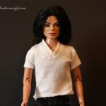 8 Michael Jackson doll straight hair ready