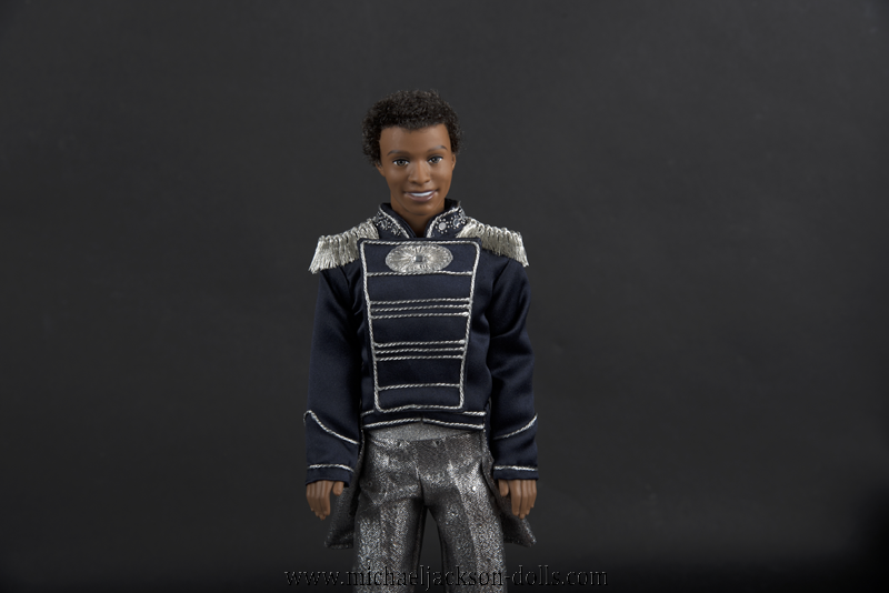 Jackson 5 doll blue jacket close up