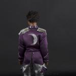 Jackson 5 doll purple jacket back side close up