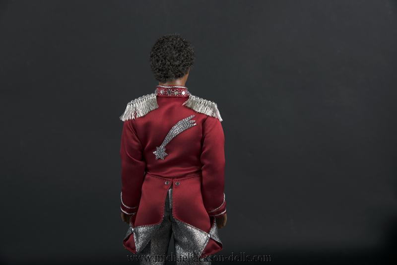 Jackson 5 doll red jacket back side close up