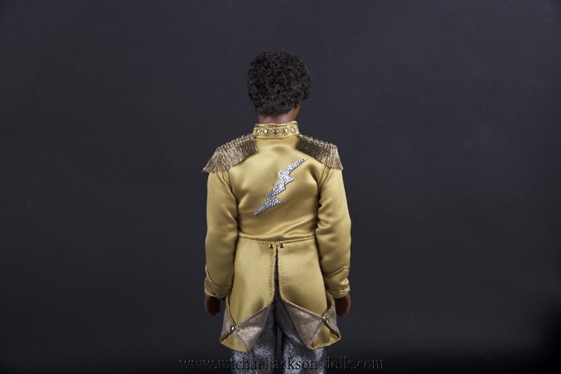 Jackson 5 doll yellow jacket back side close up