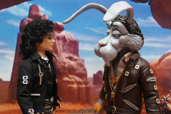 Michael Jackson and Spike doll Speed Demon close up
