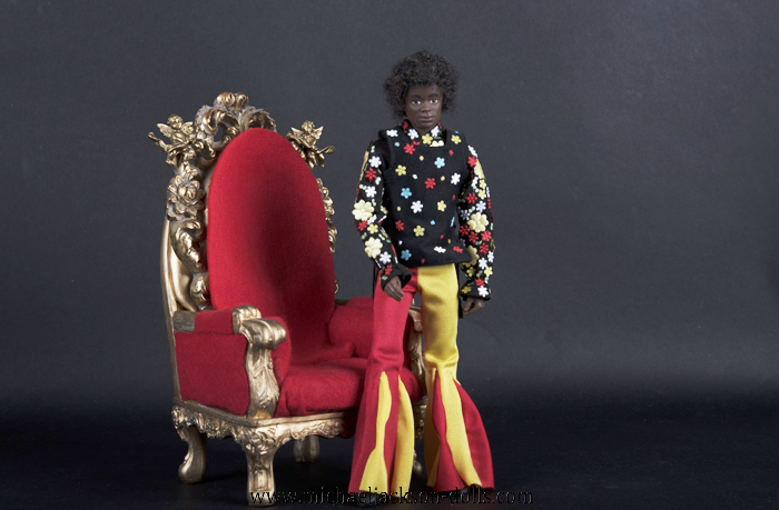 Michael Jackson as a child red chair
