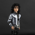 Michael Jackson doll BAD tour grey outfit close up