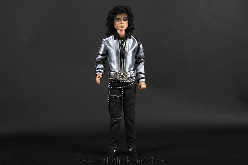 Michael Jackson doll BAD tour grey outfit