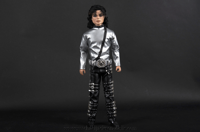 Michael Jackson doll BAD tour silver outfit