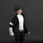 Michael Jackson doll Black or White close up