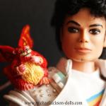 Michael Jackson doll Captain EO Fuzzball close up