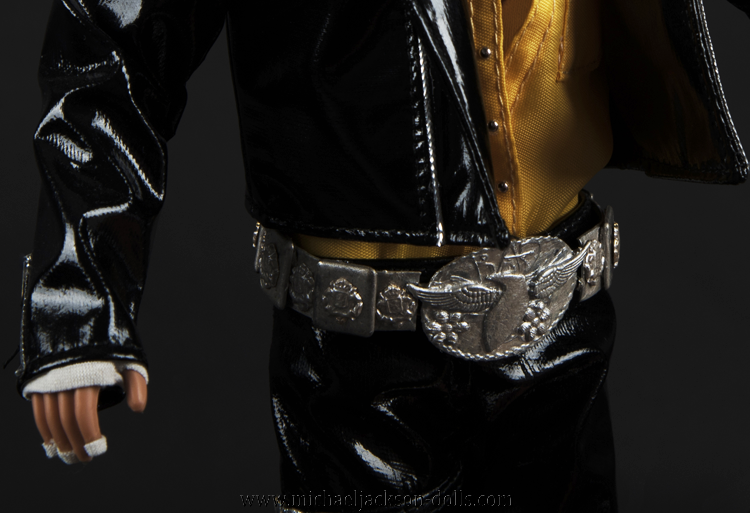Michael Jackson doll Come Together belt close up
