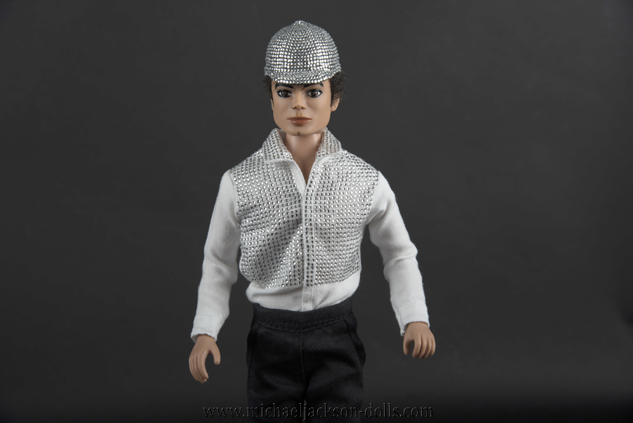 Michael Jackson doll Crystal helmet close up