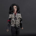 Michael Jackson doll Dinner jacket close up