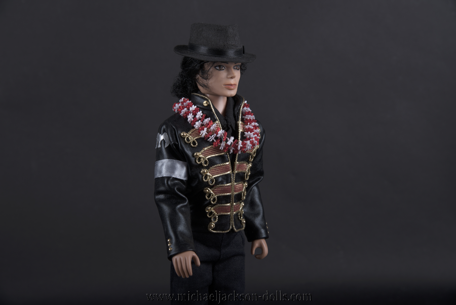 Michael Jackson doll Hawaii jacket close up