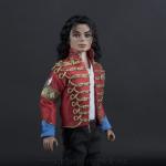 Michael Jackson doll History era red jacket close up