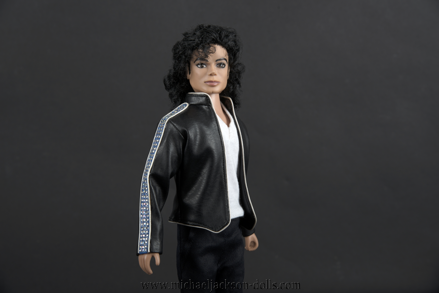 Michael Jackson doll History tour Heal the World jacket close up