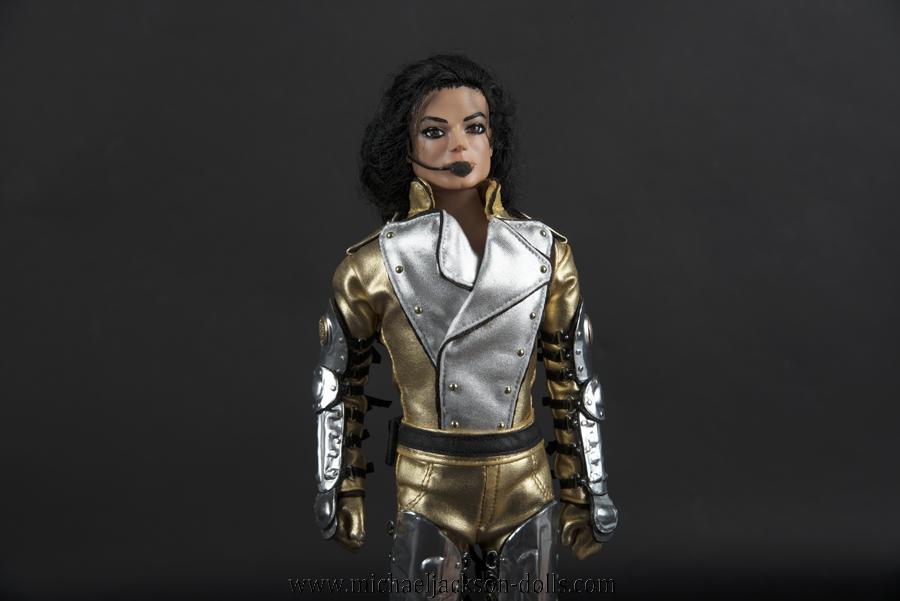 Michael Jackson doll History tour close up