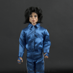 Michael Jackson doll Invincible signing outfit close up
