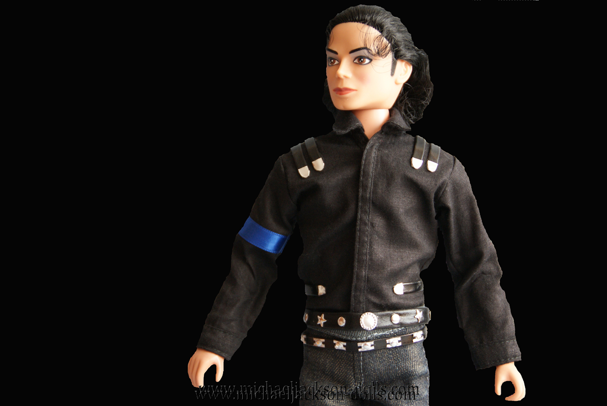 Michael Jackson doll LAgear commercial blouse close up