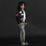 Michael Jackson doll LAgear nameplates jacket
