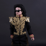 Michael Jackson doll Man In The Mirror close up