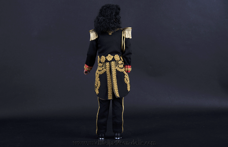 Michael Jackson doll Man in the Mirror backside