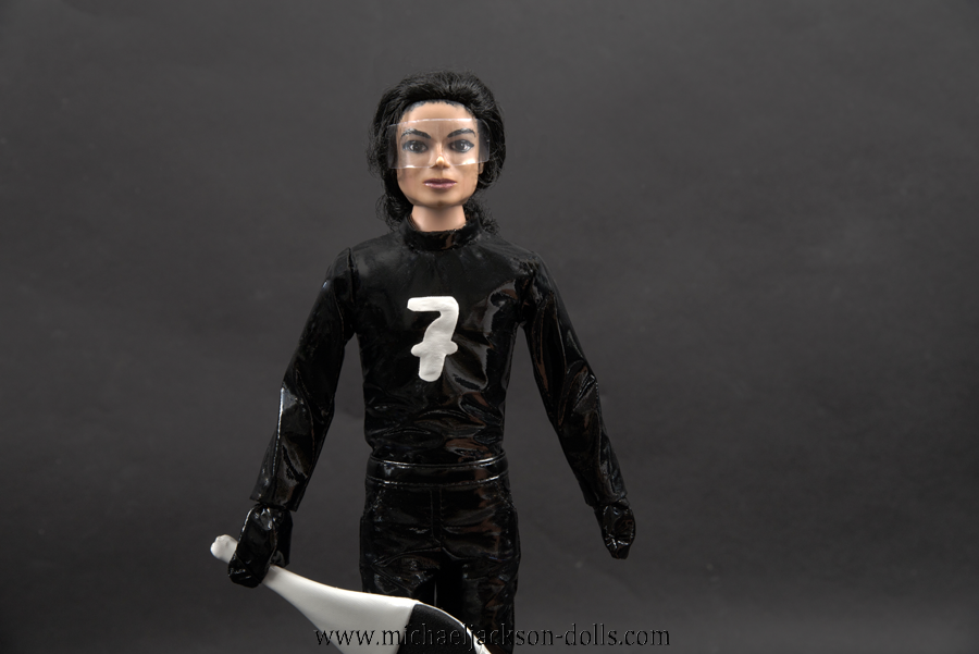 Michael Jackson doll Scream black outfit close up