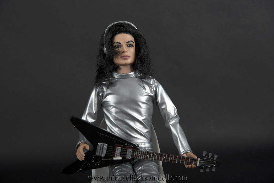 Michael Jackson doll Scream silver outfit close up