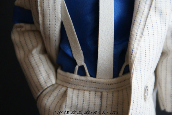 Michael Jackson doll Smooth Criminal detail close up