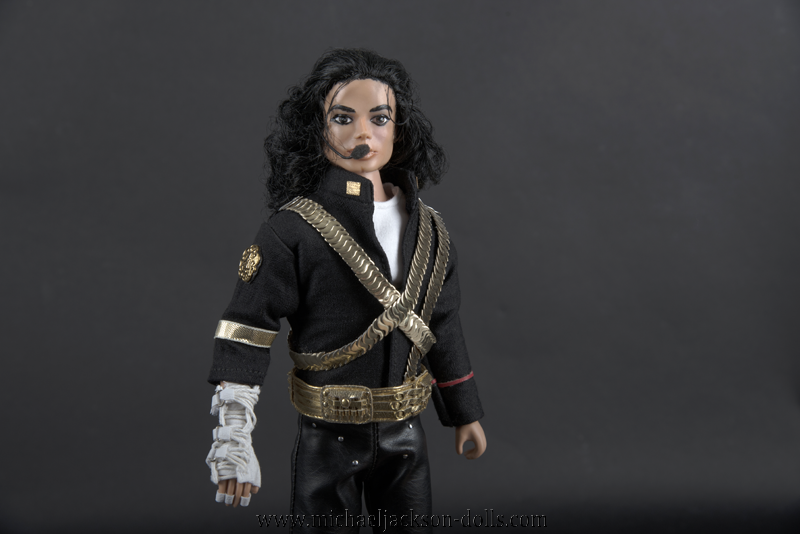 Michael Jackson doll Superbowl outfit close up