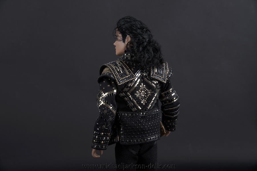 Michael Jackson doll This is It Black or White backside close up