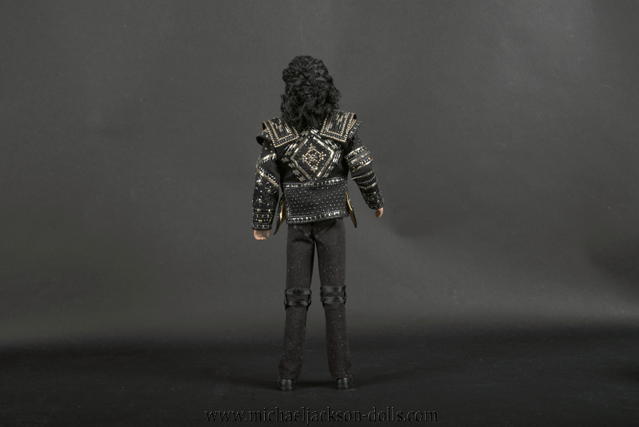 Michael Jackson doll This is It Black or White backside