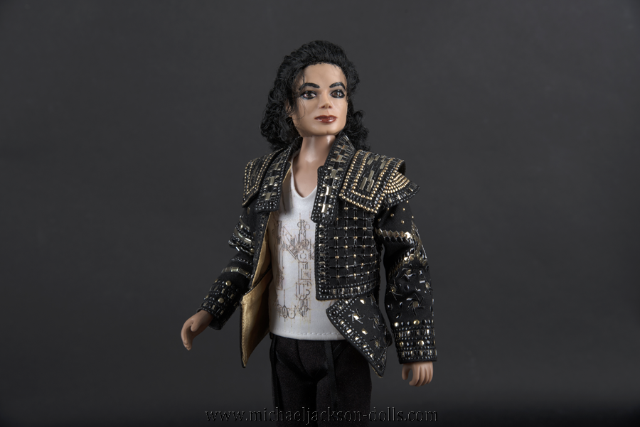 Michael Jackson doll This is It Black or White close up