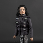 Michael Jackson doll This is It Man in the Mirror close up