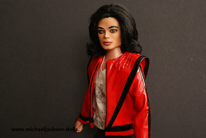 Michael Jackson doll This is It Thriller close up