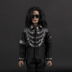 Michael Jackson doll This is It press conference close up