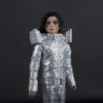Michael Jackson doll This is It silver christel suit close up