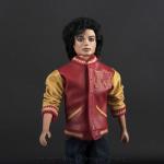 Michael Jackson doll Thriller Werewolf jacket close up