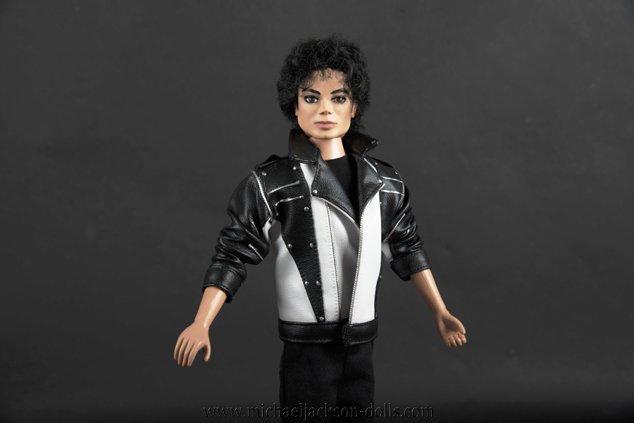 Michael Jackson doll Thriller rehearsal jacket close up