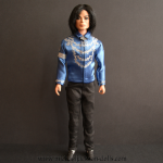 Michael Jackson doll blue blouse