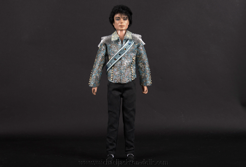 Michael Jackson doll blue jacket