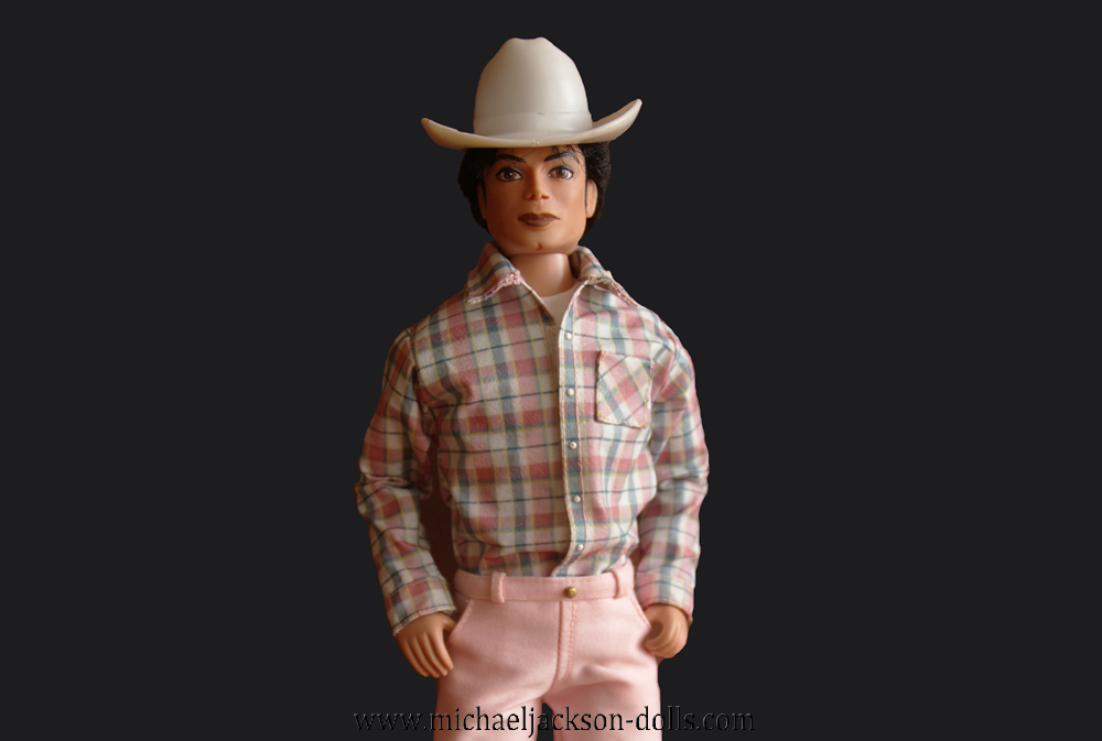 Michael Jackson doll cowboy close up