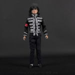 Michael Jackson doll jacket with striped bands