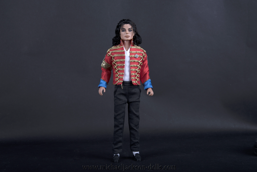 Michael Jackson doll red Sheffield jacket