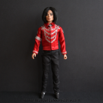 Michael Jackson doll red blouse