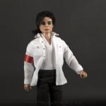 Michael Jackson doll white CTE shirt close up