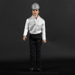 Michael Jackson doll with crystal helmet