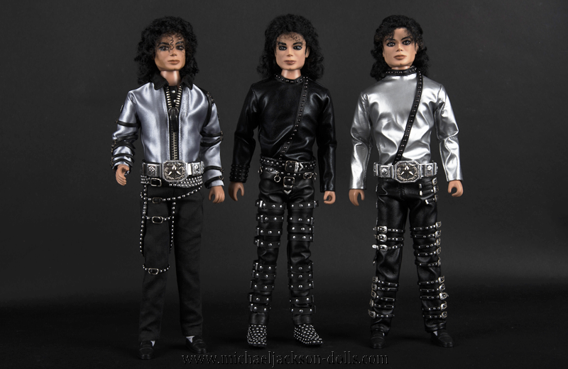 Michael Jackson dolls BAD trio