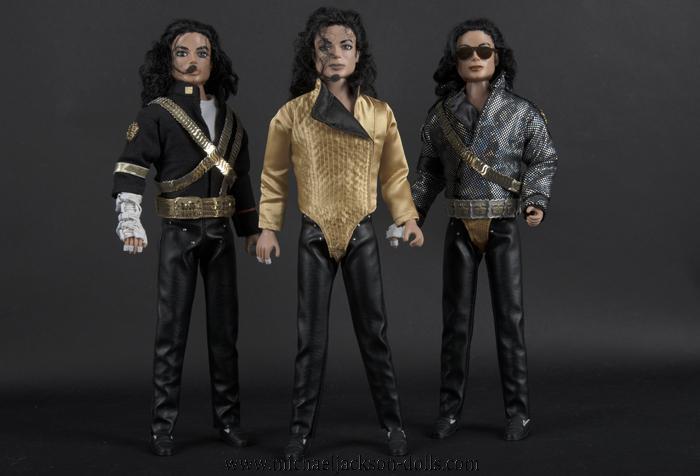 Michael Jackson dolls Dangerous trio